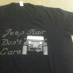 """""""Jeep Hair Don't Care"""" tee"""